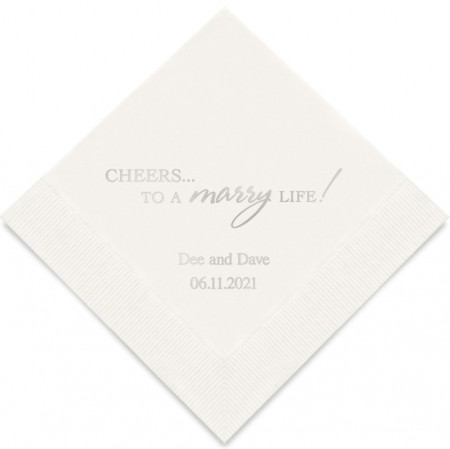 Cheers... To A Marry Life! - Personlige Servietter